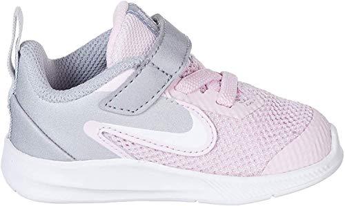 Nike Nike Downshifter 9 (Tdv) - pink foam /white-metallic silver, Größe:6C
