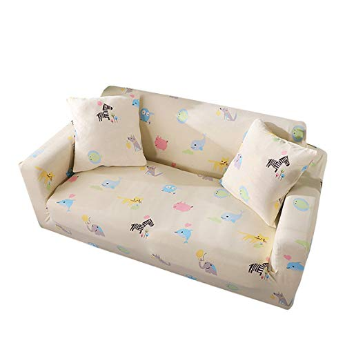Yunchengyunxiangtong Stretch Couch Cover All Inclusive Einzelzimmer Doppelzimmer DREI-Personen-Kombination Wohnzimmer-Sofa Tuch Pad Cartoon Stretch Sofa (Size : Double)