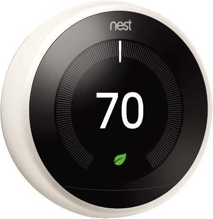 Nest Labs Google Nest Learning Thermostat- White T3017us