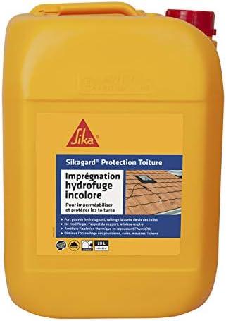Sikagard Protection Toiture Impermeabilisant Hydrofuge Incolore Pour Toitures Protection Longue Duree 20l Environ 80m Amazon Fr Bricolage