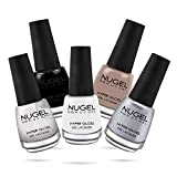Nugel Non Uv Gel Nail Polish, Basic Manicure Combo Lacquer Combo, Multicolor, 13