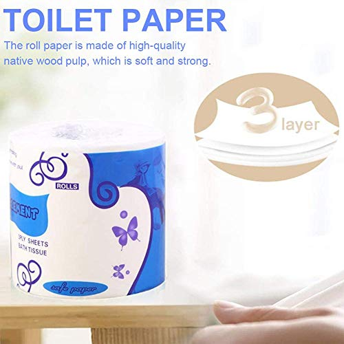 in Stock Home Kitchen Enviro Friendly Recycled Toilet Tissue,Highly Absorbent Paper Hand Towels for Daily Use Blingdots Toilet Paper Bulk 10 Rolls Professional Series Premium 4-Ply Toilet Paper