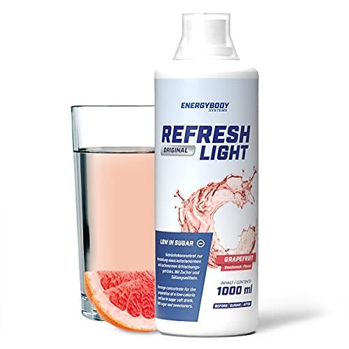 """Energybody Refresh Light \""""Grapefruit"""" 1 L / Getränkekonzentrat mit Vitaminen/ als kalorienarmer Fitness Drink / Sirup Konzentrat für Sportgetränke / versch. Sorten"""