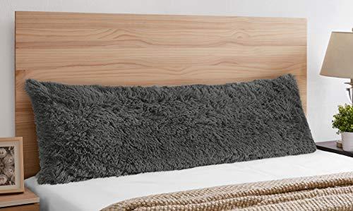 Funda de almohada de piel sintética de color gris oscuro y gris oscuro, con textura rústica, decoración para el hogar, habitación adolescente, universidad, etc.