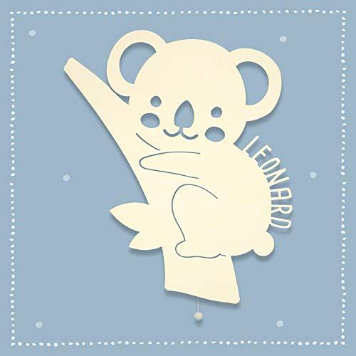Nachtlicht, Schlummerlicht, Wandleuchte, Holz, Tauf-Geschenk mit Wunsch-Name für Mädchen oder Jungen, Koala, Schlummerlicht, Babyzimmer, Lampe, Babylampen [Energieklasse A++]