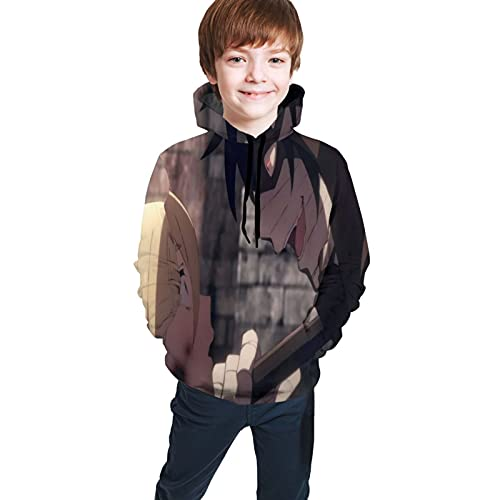 Angels Of Death Anime Teen Hoodie Sweate Pockets Boys Girls Casual 3d Digital Print Unisex Pullover Sweatshirts Fashion Sweaters Small
