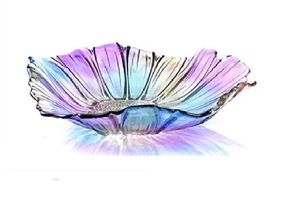 Luffar Tabletop Crystal Glass Fruit Plates Bowl,11.4 inch Diameter (Muti-color)