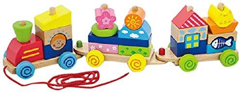 Viga Toys - 50089 -Jouet De Premier Age - Train De Cube À Tirer