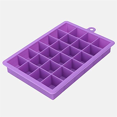 molde hielo cubiteras 15 Grid Hele Cream Maker Food Silicone Ice Bandeja de hielo Hogar con tapa DIY Cubo de hielo Molde Forma cuadrada Barra de cocina Accesorios (Color : 6)