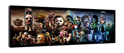 Horror Villains,Halloween,Freddy Krueger, Michael Myers Walls Arts Canvas HD Printed Painting Home Decor Arts Fashion Gifts Frameless (16'x40')