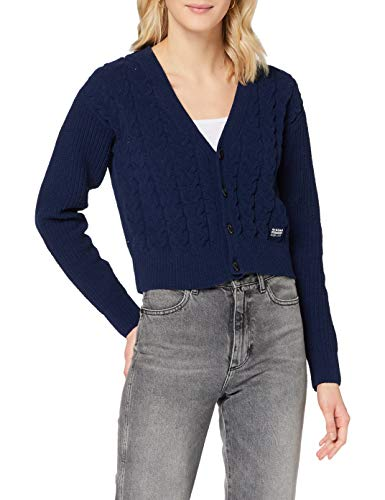 G-STAR RAW Womens Cable Cardi Cardigan Sweater, Sartho Blue C561-6067, M