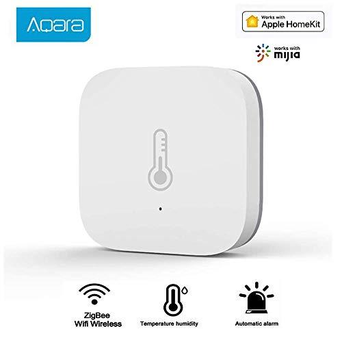 Aqara Intelligente Temperatur Luftfeuchtigkeit Sensor Atmosphärendruck-Echtzeitmonitor, Smart Home ZigBee WiFi Drahtloses Arbeiten mit der mit Mi Home Mijia App und Apple Homekit