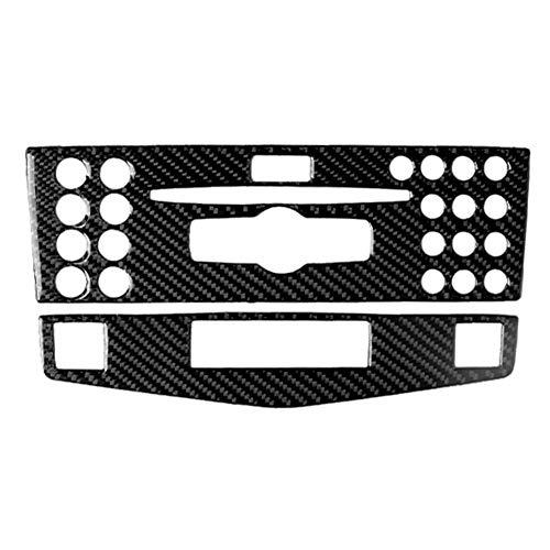 Adesivi per modanature interni auto Fibra del carbonio dell'automobile Fashion Center Console Pannello adesivo decorativo è compatibile con Mercedes-Benz W204 Classe C 2007-2010