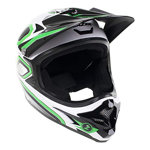 LAZER Phoenix Plus Full Face Helmet: Green/White LG