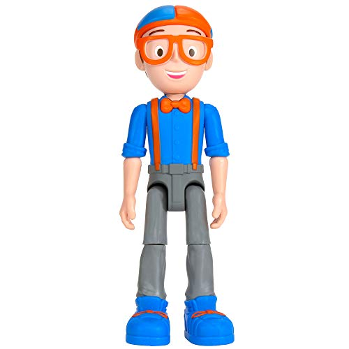 Blippi Talking Figure, 9-inch Articulated Toy with 8 Sounds and Phrases, Poseable Figure Inspired by Popular YouTube edutainer