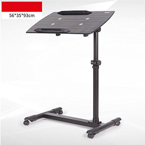 Desks DD gehard glas Computer nachtkastje verwijderbaar\liftable luie tafel op wielen tafel -werkbank