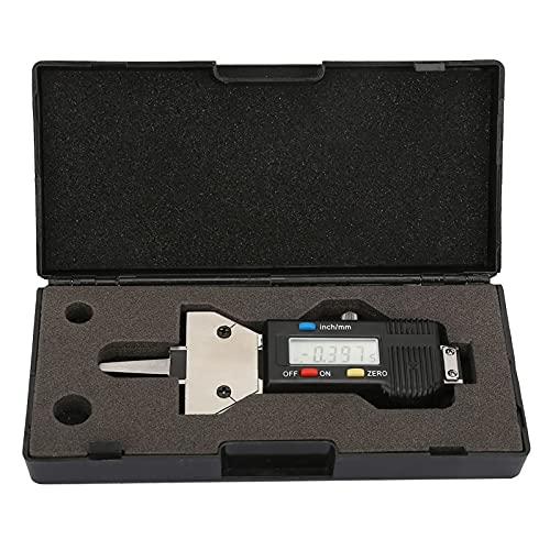 Syuantech Medidor de Profundidad de Banda de Rodadura Digital Medidor de Profundidad Digital para Detección de Neumáticos de Rodadura 0-25Mm LCD Medidor de Profundidad de Neumáticos Digital
