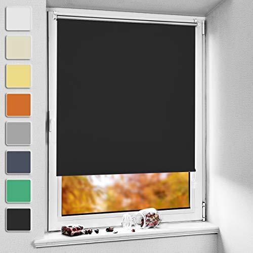 NoCon - Estor opaco térmico (sin agujeros), Color negro., 40x150cm (BxH)