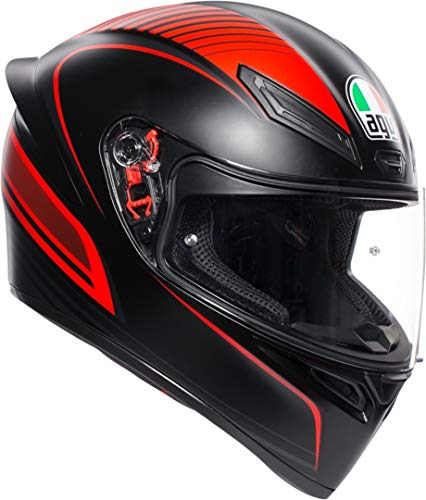 CASCO K1 AGV MULTI WARMUP MATT BLACK/RED ML