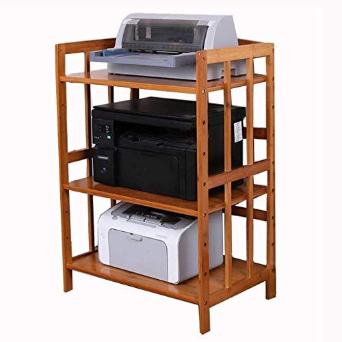 Pkfinrd Plank organizer voor 3-level keuken in massief hout Plank voor magnetron Planken voor bakkerij Planken voor printer Koper voor kantoor