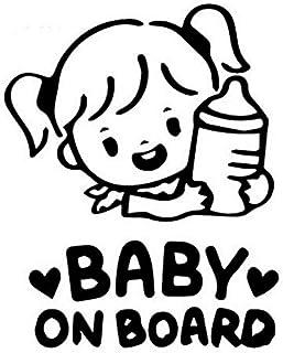 Fireman's Baby on Board Aufkleber 12x7cm Auto Sticker Autoaufkleber UV  Wetterfest Wasserfest (Girl, Baby on Board)