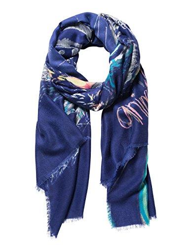 Desigual Damen FOUL_BOLIMANIA TIGER Schal, Blau (Azafata 5027), One Size (Herstellergröße: U)