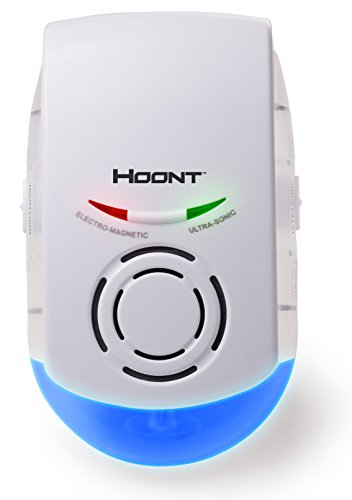 Hoont Indoor Powerful Plug-in Pest Repeller with Night Light – Eliminate All Types of Insects and Rodents
