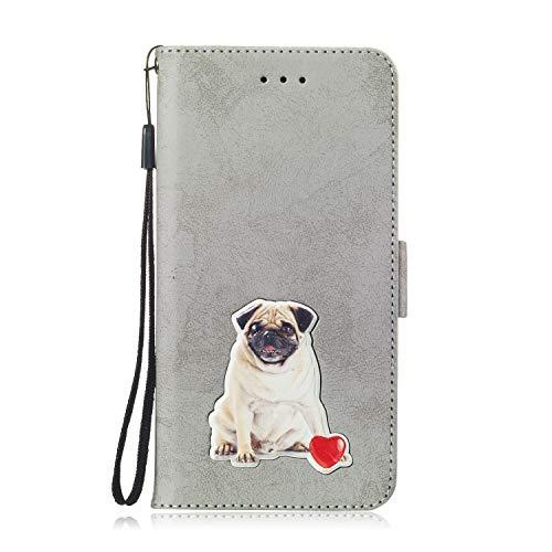 Preisvergleich Produktbild SEYCPHE für Samsung Galaxy J7 2017 Hülle, Flip Case Wallet Stylish mit Standfunktion und Magnetisch Ledertasche Schutzhülle handyhüllen passt für Samsung Galaxy J7 2017 Phone, Grau