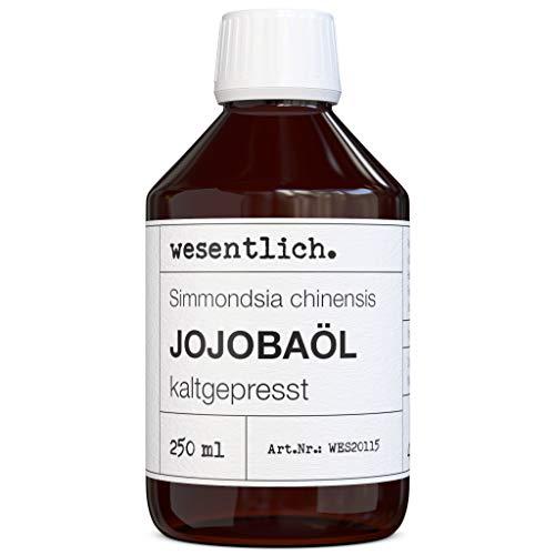 Jojobaöl kaltgepresst 250ml - reines Öl (Simmondsia chinensis) von wesentlich.