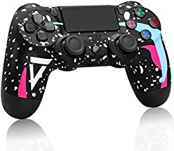 JIEREAMKA PS4 Wireless Controller - Compatible for PS4/Pro/Slim,Playstation 4 Game Controller, Built-in Speaker & Stereo Headset Multi-touch Pad (Black Camouflage)