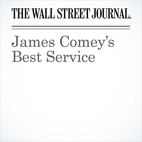 James Comey's Best Service audiobook cover art