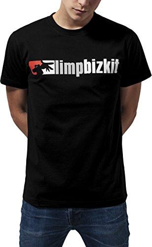 MERCHCODE Jungen Limp Bizkit Logo Tee T-shirt Limp Bizkit Logo Tee, black, L (Herstellergröße: L)