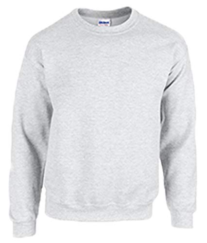 Gildan Herren Sweatshirt Heavy Blend Crewneck, Dickes Material Gr. XXL, Ash Grey