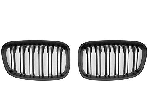Cks Noir Mat Rein Grille Double Barre Noir Mat FS012002 pour Modèles From 2011 To 02/2014