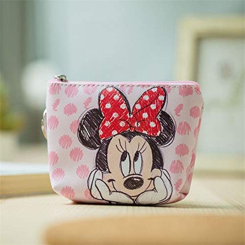 N / A Kinder Cartoon Geldbörse Münze Mickey Mouse Münztasche Mädchen Junge Geschenk Handtasche Aufbewahrungsschlüssel Anhänger Tasche Kinderpaket Brieftasche Gefroren 11x9CM