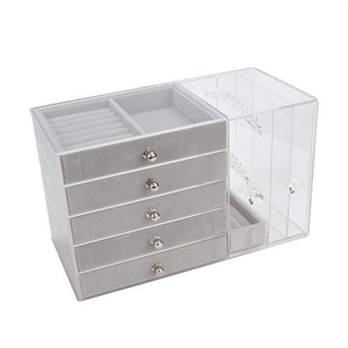 Estante de exhibición de joyas, pulsera, cajas de joyería y organizadorestorres y perchasCollar pendiente joyería soporte de almacenamiento caja para organización de joyas y exhibición [2#]
