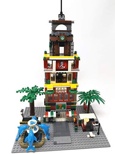 Modbrix City Bausteine großes Kaufhaus, Einkaufszentrum 813 Bausteine, 56 x 22 cm