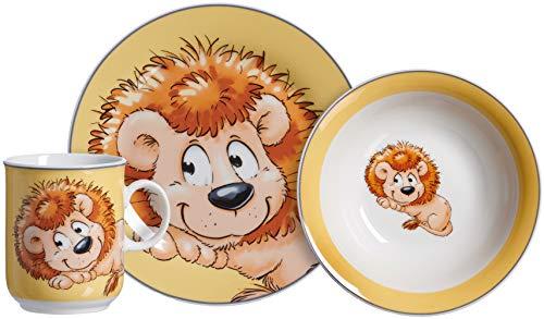 Kindergeschirr-Set Happy Zoo, Leo, 3-teilig