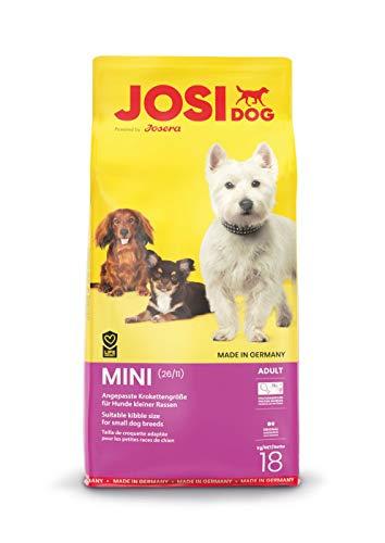 JosiDog Mini (1 x 18 kg)   Hundefutter für kleine Rassen   Premium Trockenfutter für ausgewachsene Hunde   powered by JOSERA   1er Pack