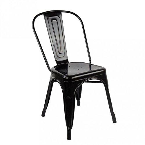 Chaise Design Moderne en métal Noir