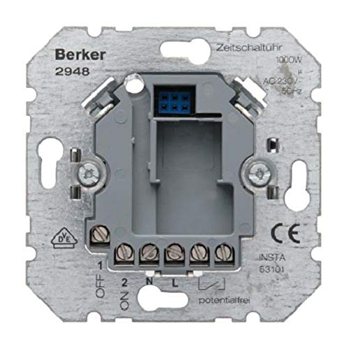 BERKER 2948 Zeitschalter elektronisch UP, Metallisch