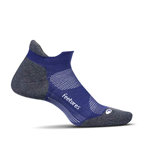 Feetures Elite Max Cushion No Show Tab Athletic Running Socks for Men and Women - Sapphire - Size Small