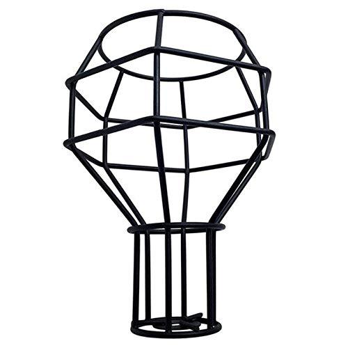 xingdong Elegante y fácil de Instalar Pantalla País Retro Hierro Forjado Edison lámpara Antigua Pantalla Pequeña granadas Metal Pared de la Pantalla iluminación de la decoración (Body Color : Black)