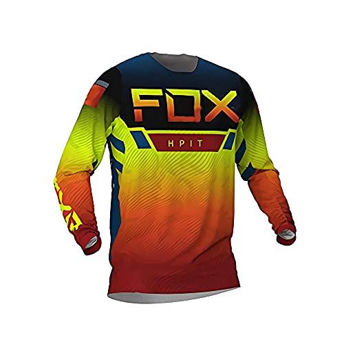 Maillot de manga larga para hombre, camiseta de ciclismo para descenso, Hpit Fox Mountain Bike, camisetas Offroad Dh, ropa de motocross, ropa deportiva Imagen XS