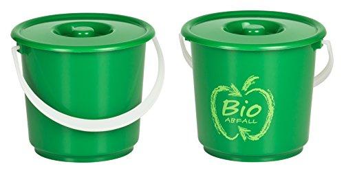 Kigima Bioeimer Biomülleimer Komposteimer 2,7L (2 STK) Grün