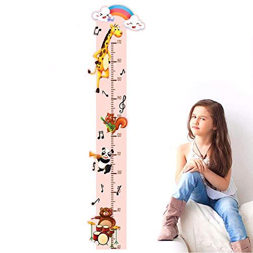Altura Pegatinas de Pared,Medidor de Altura para Niños,Pegatinas de Pared Jirafa Gráfica de Altura,Altura Pegatina De Pared Desmontable Decorativos para Dormitorio Habitación Infantiles Niños (jirafa)
