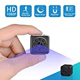 Spy Hidden Camera-1080P Portable Mini Security Camera Nanny Cam with Night Vision/Motion Detection /420mAh Battery for Home and Office,Indoor/Outdoor Use-No WIFI Function