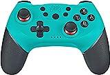 Tanouve Mando para Nintendo-Switch, Controlador Inalámbrico para Nintendo-Switch Pro/PC Gamepad Bluetooth Inalámbrico con Doble Choque Vibración Controlador (Azul)