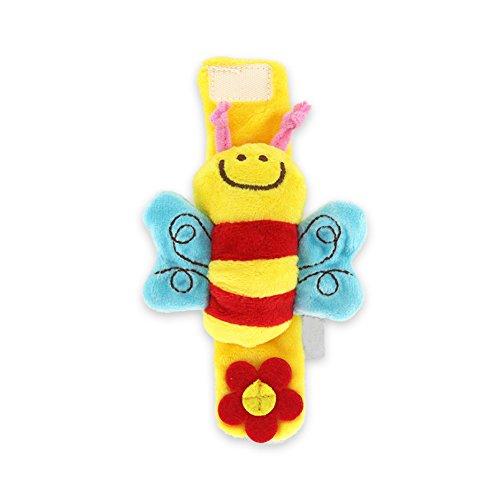 Isuper Baby - Braccialetto con sonaglio, giocattolo per bambini da 0 a 2 anni (ape)