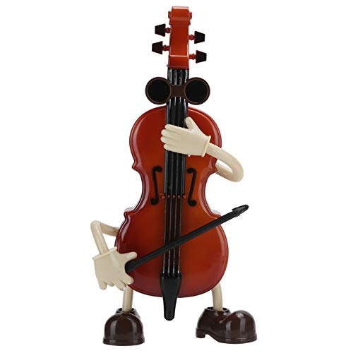 HERCHR Caja de Música, Mini violín con Soporte de Arco Negro Violín de Juguete para Decoración de Hogar Oficina 9.5x5x20 CM